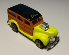 Vintage HOT WHEELS Florescent YELLOW 40'S WOODIE Ford California Custom
