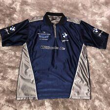 2005 BMW Racing Williams F1 Teams Formula GRAND PRIX Satin 1/4 Zip Polo Shirt OS