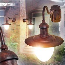 Aussen Wand Leuchten Down Veranda Terrassen Lampe Garten Beleuchtung rostfarben