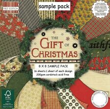 DOVECRAFT THE GIFT OF CHRISTMAS PAPER 8 X 8 SAMPLE PACK - 16 SHEETS POSTAGE DEAL