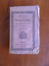 Oeuvres complètes de Boileau 1824  Tome 3 collection des classiques Français