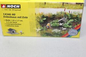 Noch 14346 Entenhaus With Duck Laser Cut Gauge H0 Boxed