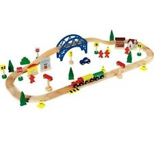Chad Valley New Wooden Train Perfect For Little Train Fans With Big 60 Piece Set