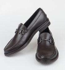 NIB. ERMENEGILDO ZEGNA Brown Leather Bit Loafers Shoes 9.5 D US 41.5 EU $650