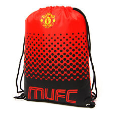 MANCHESTER UNITED FC MAN UTD FADE GYM BAG PE SCHOOL SWIMMING SPORT NEW XMAS GIFT