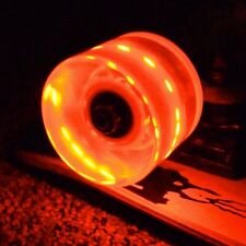 Yocaher LED light-up 70mm Longboard Wheels - Red lighting