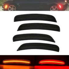 For 2015-2020 DODGE CHARGER SMOKED LENS LED SIDE MARKER LIGHTS FRONT & REAR 4PCS