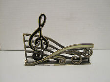 Musical Note Desktop Business Card Holder Stand