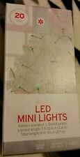 Target 20 Green Led String Lights Christmas length Battery Operated New