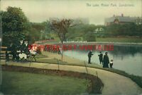 VINTAGE  POSTCARD THE LAKE ROKER PARK SUNDERLAND