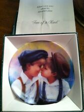 "DONALD ZOLAN Collector Plate: ""TWO OF KIND"" (children) 3 1/4"" Mini NIB / Dealer"