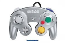 # original platino Nintendo GameCube GC Controller control pad plata-Top #