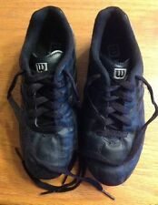 Kids Boys Girls Unisex Black Wilson Youth Soccer Sports Cleats Shoes Size 13 Euc