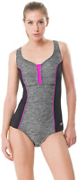 Speedo Black Swimsuit One Piece Endurance Touchback Women's Size 10 17024