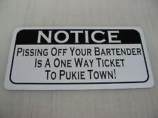 Funny Bertender Bar Pool Hall Man Cave Metal Sign 4 Waiter Server Beer