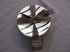 "Nate Berkus 4 Dessert Plates Stoneware NEW Black & White 6"" Lines Dots FREE SHIP"