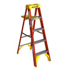 5 Ft Fiberglass Step Ladder With Shelf 300 Lb Load Capacity Type Ia Duty Ratin