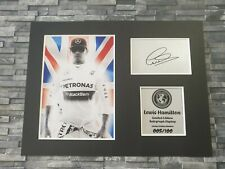 More details for lewis hamilton - signed autograph display - mounted - f1