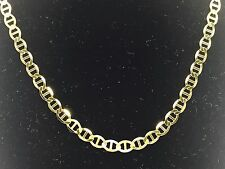 """14k solid Yellow Gold  Anchor Mariner chain/necklace 5.4MM  18 grams  28"""""""