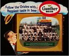 1958 Gunther Beer Baltimore Orioles Team TV Photo Display Ad Brooks Robinson