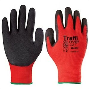 TraffiGlove Motion TG165 Lightweight Rubber Coated Handling Glove Cut Protection