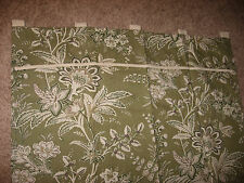 Martha Stewart Everyday Tab Top Curtain Panels Green Jacobean Floral-Kmart 2005