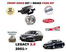 FOR SUBARU LEGACY 2.0I 5/2003-12/2009 FRONT BRAKE DISCS SET+ DISC PADS KIT