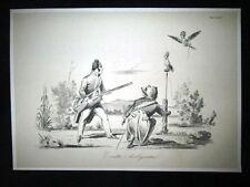 Incisione d'allegoria e satira Luigi Filippo Borbone,Napoleone Don Pirlone 1851