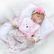 Handmade Real Life Looking 55cm Vinyl Silicone Cotton Reborn Baby Doll #101