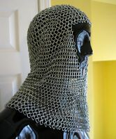 Chain Mail Chainmail Medieval Renaissance Armor Adult Steel Coif Chain-Mail
