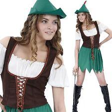Adult Ladies Robin Hood Peter Pan Fancy Dress Costume Womens Disney Book Day