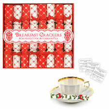 8 Luxury Miniature Crackers Breakfast, Afternoon Tea, Saucer Cracker - Red White