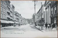Ithaca, NY 1905 Rotograph Postcard: East State Street / Downtown - New York