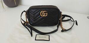 Gucci GG Mini Marmont Matelasse Camera Bag Black