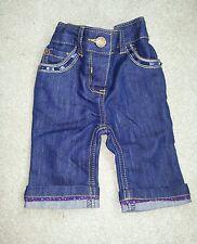 Girls Ted Baker dark blue denim jeans age 0 - 3 months Newborn NEW