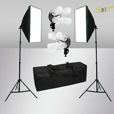 Photo Studio Softbox Lighting Video 4 Head Soft Box Light Stand Kit Photography