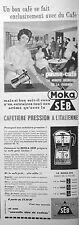 PUBLICITÉ 1960 MOKA SEB CAFETIÈRE PRESSION À L'ITALIENNE LE CAFÉ GOÛT ITALIEN