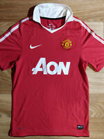 Nike MANCHESTER UNITED Jersey Mens Football Soccer Shirt Home 2010-2011 Red AON
