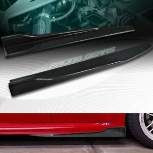 "2PC UNIVERSAL CARBON LOOK SIDE SKIRT ROCKER SPLITTERS WINGLET DIFFUSER 31"" X 4"""