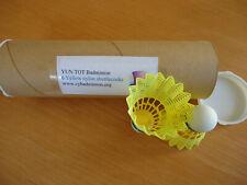 New listing 6 New CY Nylon Badminton Shuttlecocks Yellow