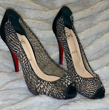 Christian Louboutin black white heels size 39