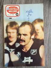 1978 VFL AFL football record Collingwood Magpies V St Kilda Saints August 26