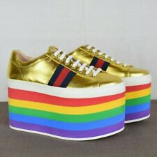 Gucci Peggy Rainbow Sneakers Size 37.5 New