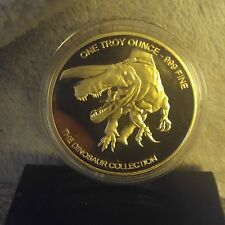 Collectors  One Troy ounce clad Triceratops Dinosaur Commemorative Coin