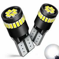 2X T10 501 194 W5W SMD 24 LED Car HID White CANBUS Error Free Wedge Light Bulb F