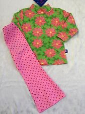 b4da9b3fca89d Girls Boutique FLAP HAPPY 12 Months Christmas Pink Poinsettia Outfit NEW NWT