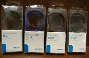 (4) Original Samsung Plastic Band Replacement for Gear Fit Smartwatch 4 Colors
