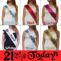 BIRTHDAY GIRL 21ST PARTY SASH NIGHT OUT ACCESSORY GIRLS SASHES FUN TWENTYFIRST!