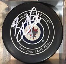 SIGNED OFFICIAL AUTOGRAPHED NHL GAME PUCK WINNIPEG JETS BLAKE WHEELER 2018