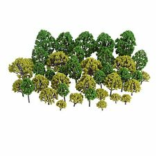 40pcs Mixed Type Model Trees Train Railway Diorama Scenery Layout Hobbies Toys